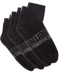 lululemon athletica Daily Stride Pack Of Three Logo-intarsia Socks - Black