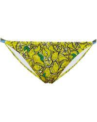 Diane von Furstenberg Halle Lemon-print Bikini Briefs - Multicolour