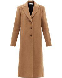 Raey Manteau ajusté en sergé de laine - Multicolore