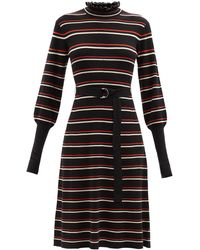 Chloé Chloé ウールブレンドジャージードレス - ブラック