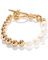 Missoma Baroque Pearl & 18kt Gold-plated Bracelet - Metallic