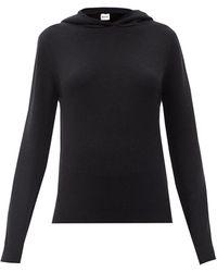 Khaite Stefka Cashmere Hooded Sweater - Black