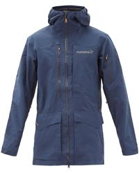 Norrøna Tamok Logo-embroidered Gore-tex Hooded Jacket - Blue