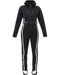 Fendi Roma Hooded Logo Jacquard Jumpsuit - Black