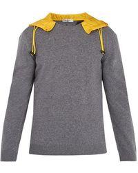 Valentino - Detachable-hood Wool Jumper - Lyst