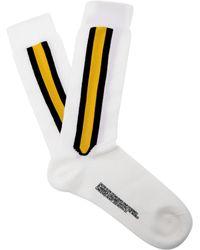 CALVIN KLEIN 205W39NYC Striped Wool Blend Socks - White