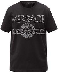 Versace メドゥーサ コットンtシャツ - ブラック