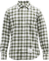 Thom Browne チェック コットンフランネルシャツ - マルチカラー
