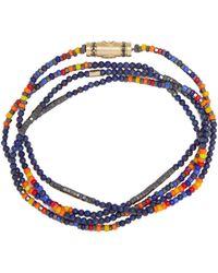 Luis Morais ダイヤモンド&ラピスラズリ 14kゴールドネックレス - ブルー
