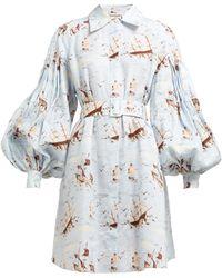 Emilia Wickstead - Rowena Ship Print Shirtdress - Lyst
