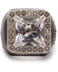 Gucci Crystal-embellished Signet Ring - Multicolour
