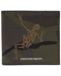 Alexander McQueen - Dancing Skeleton Grained-leather Wallet - Lyst