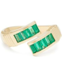 Retrouvai - Wrap Emerald & 14kt Gold Ring - Lyst