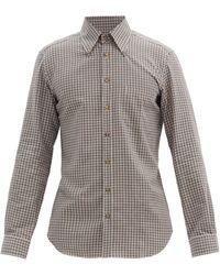 Thom Sweeney - ボタンダウン チェック コットンツイルシャツ - Lyst