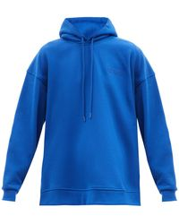 Ganni Software Recycled Cotton-blend Hooded Sweatshirt - Blue