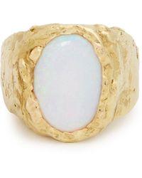 Orit Elhanati Signetura Opal & 18kt Gold Ring - Metallic
