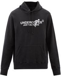 Undercover ロゴ コットンスウェットパーカー - ブラック