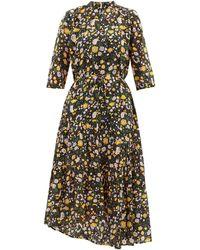 Apiece Apart Robe en coton volantée à imprimé fleuri Agata - Multicolore