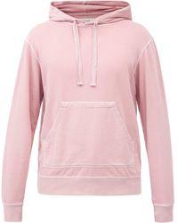 Officine Generale Olivier Cotton-jersey Hooded Sweatshirt - Pink