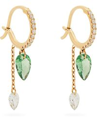 Raphaele Canot - Set Free Diamond, Tsavorite & Yellow-gold Earrings - Lyst