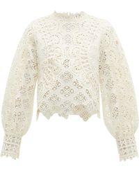 Sea Rosalie Guipure-lace Blouse - White