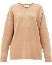 Raey - Dip-hem Knitted Cashmere Sweater - Lyst