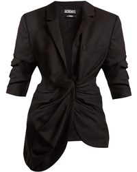 Jacquemus | Gathered-front Wool Jacket | Lyst