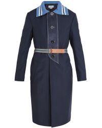 Loewe - Point-collar Belted Wool Coat - Lyst