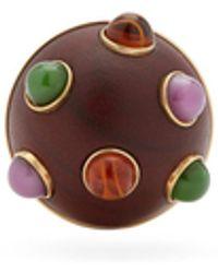 Loewe Bezel-set Wooden Single Clip Earring - Multicolor