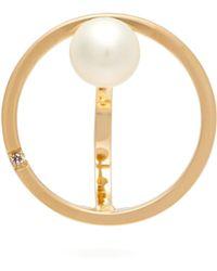 Delfina Delettrez - Small Bubble 18kt Gold, Pearl And Diamond Earring - Lyst