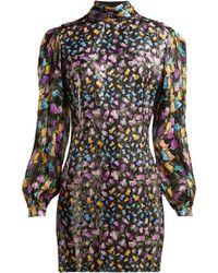 Raquel Diniz - Elle Metallic Floral Mini Dress - Lyst