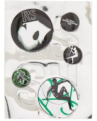 Raf Simons Graphic Print Badge Set - Green
