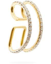 Ana Khouri Bijou d'oreille en or 18 carats et diamants Jamie - Métallisé