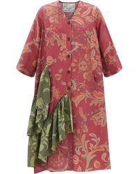 By Walid Rosita 19th-century Chinese Printed-silk Dress - Red