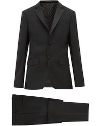 Givenchy - Single Breasted Wool Blend Suit - Lyst