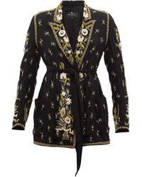 Etro ストックトン シルク シングルジャケット - ブラック