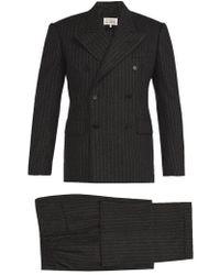 Maison Margiela - - Pinstripe Wool Felt Three Piece Suit - Mens - Charcoal - Lyst