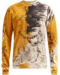 1017 ALYX 9SM アブストラクト コットン ロングスリーブtシャツ - マルチカラー