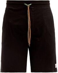 Paul Smith Short de pyjama en jersey de coton à logo - Noir