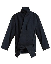 Lemaire - High-neck Hemline-tie Denim Jacket - Lyst