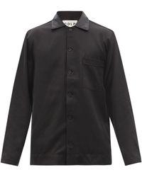 CDLP Home Suit Twill Pajama Top - Black