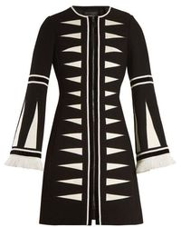 Andrew Gn - Zip-front Triangle Jacquard Coat - Lyst