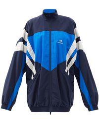 Balenciaga ロングトラックジャケット - ブルー