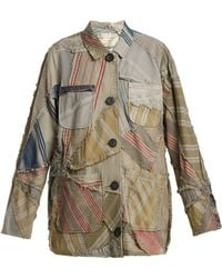 By Walid - Linda 19th-century Patchwork Linen Jacket - Lyst