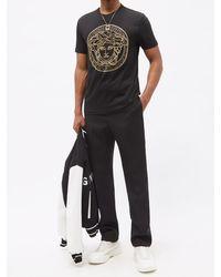 Versace メドューサスタッズ コットンtシャツ - ブラック