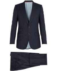 Gucci - Pinstriped Wool Suit - Lyst