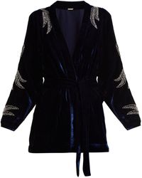 Dodo Bar Or - Corinne Bead-embellished Velvet Kimono Jacket - Lyst