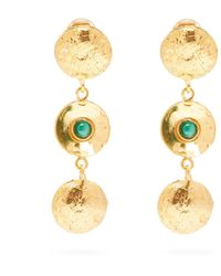 Sylvia Toledano Malachite Disc-charm Drop Earrings - Green