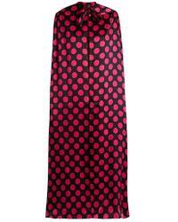 Duro Olowu - Large Polka-dot Print Silk-satin Cape - Lyst