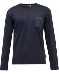 Zimmerli Cotton-blend Jersey Long-sleeved T-shirt - Blue